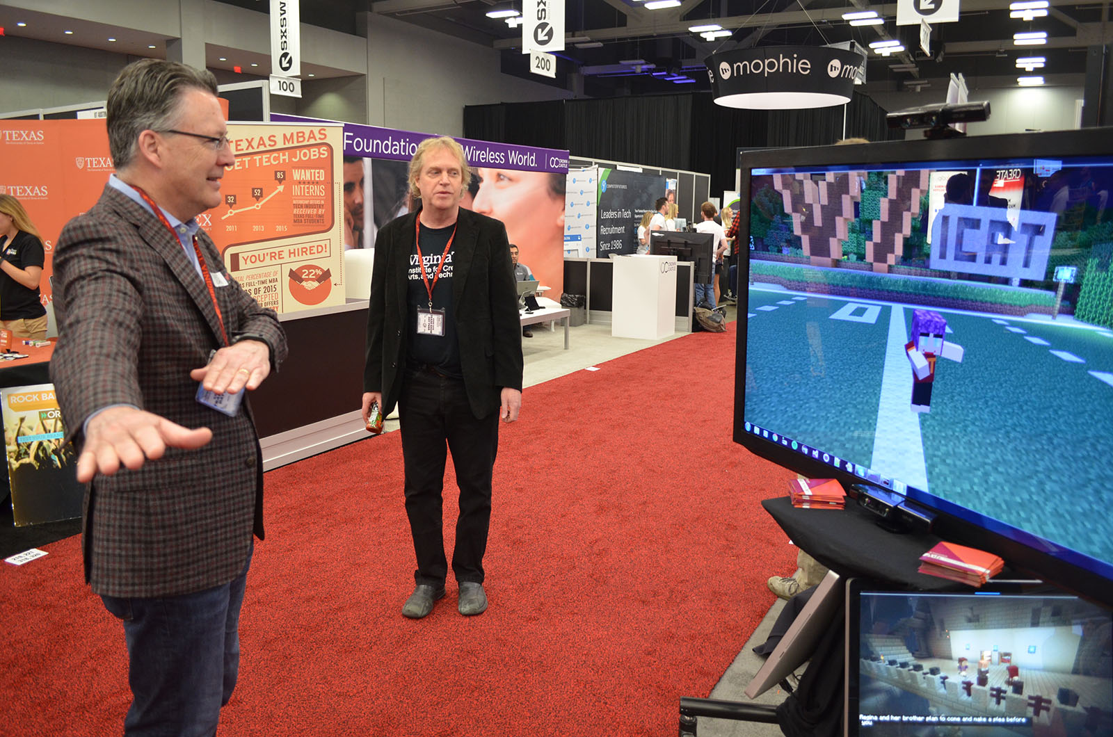 Virginia Tech President Sands explores Mirrorcraft at SXSW 2016